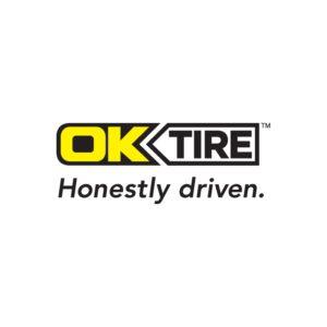 logo: OK Tire - Honestly driven.